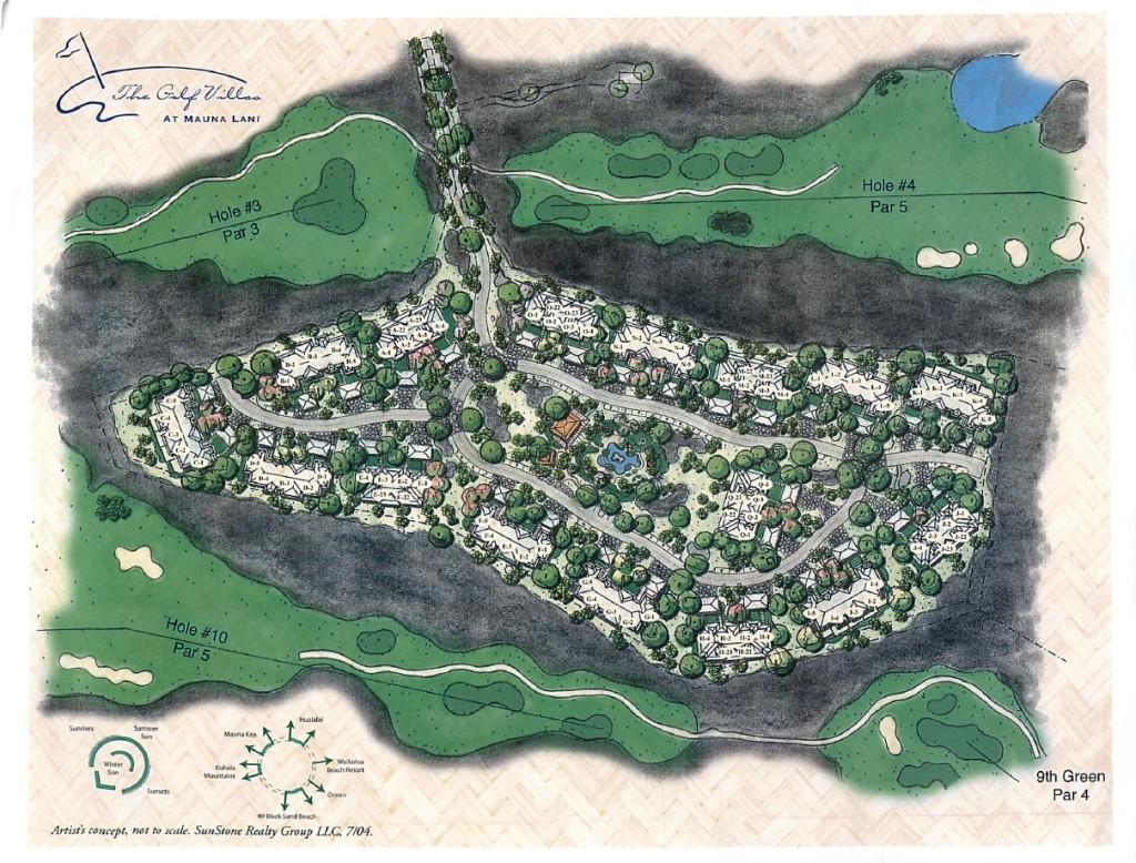 The Golf Villas Site Map