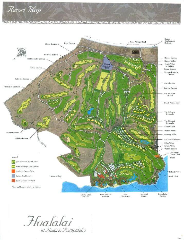 hualalai-site-map
